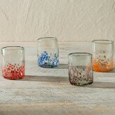 Flecked and Specked Recycled Glass 9 oz. 4 Piece Tumbler Set by VivaTerra