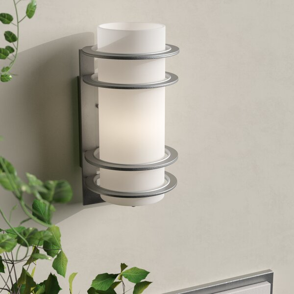 Sandridge Rustic 1-Light Outdoor Flush Mount by Latitude Run