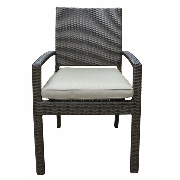 Tampa Patio Dining Chair with Cushion (Set of 4) by World Wide Wicker