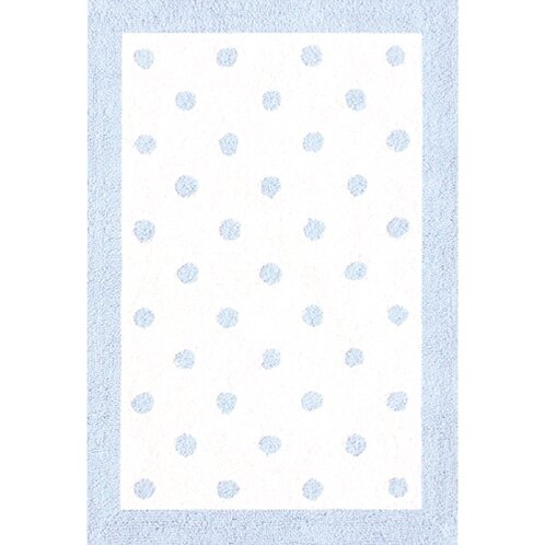 Blue/White Kids Rug by The Conestoga Trading Co.
