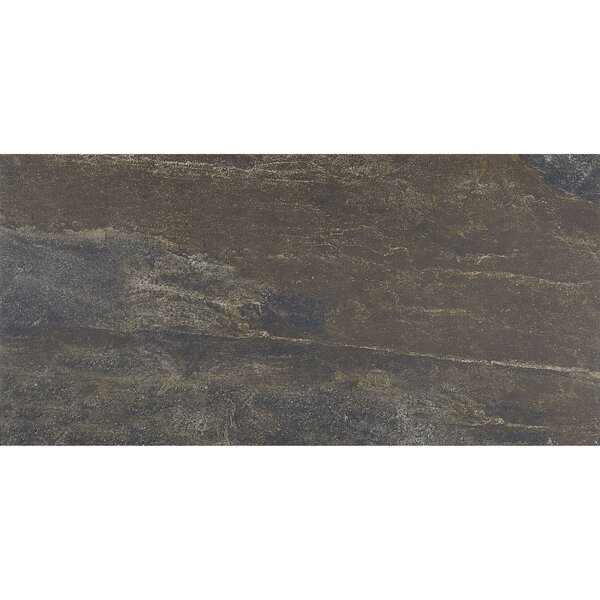 Slate Attaché 12 x 24 Porcelain Field Tile in Multi Green by Daltile