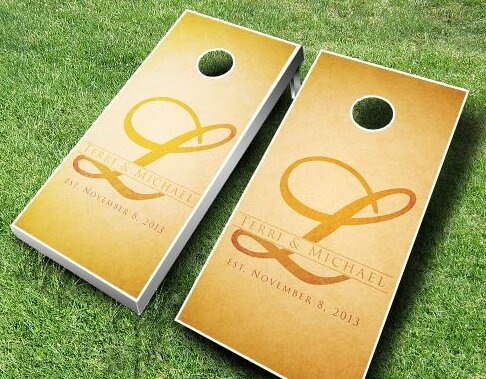 Wedding Name Cornhole Set by AJJ Cornhole