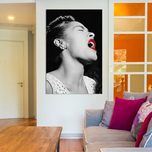 'Billie Holiday' Photographic Print on Wrapped Canvas by East Urban Home