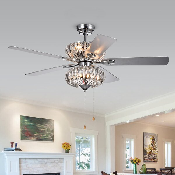 52 Adelyte 5 Blade Ceiling Fan by House of Hampton