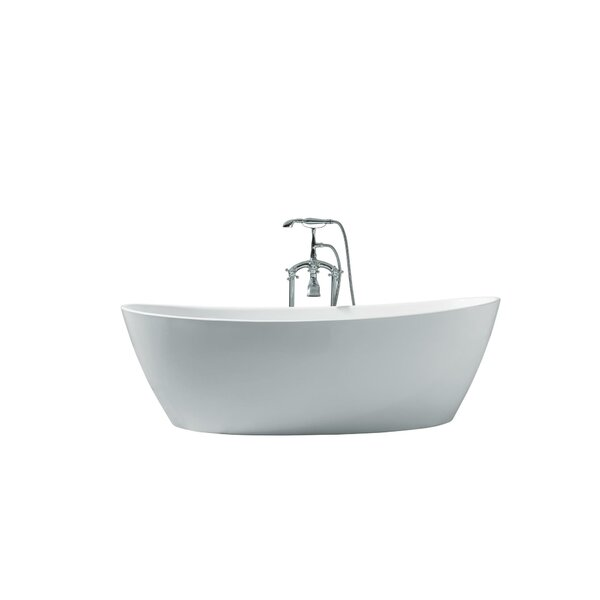 Valencia Platinum 70 x 33 Freestanding Soaking Bathtub by Ariel Bath