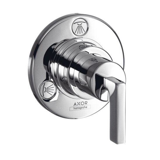 Axor Citterio Trio/Quattro Diverter Faucet Trim with Lever Handle by Axor