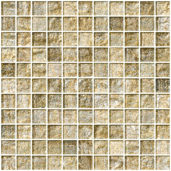 1 x 1 Glass Mosaic Tile in Gold and Silver by Susan Jablon