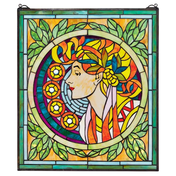 La Rousse Stained Glass Window by Design Toscano