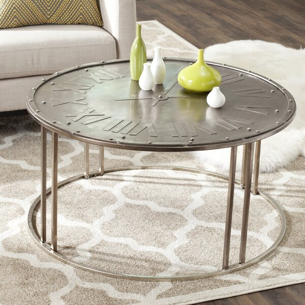 Fox Roman Clock Coffee Table by Safavieh