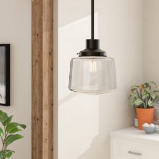 Affordable Itko 1-Light Schoolhouse Pendant By Gracie Oaks
