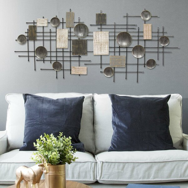"""23/"""" Large Modern Kitchen Metal Wall Sculptural Steaming Hot Coffee Wall Decor"""
