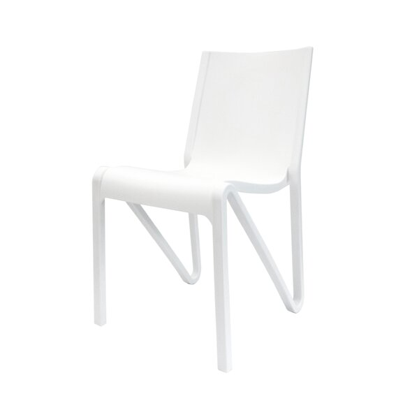 Kinman Modern Stacking Patio Dining Chair (Set Of 4) By Ivy Bronx