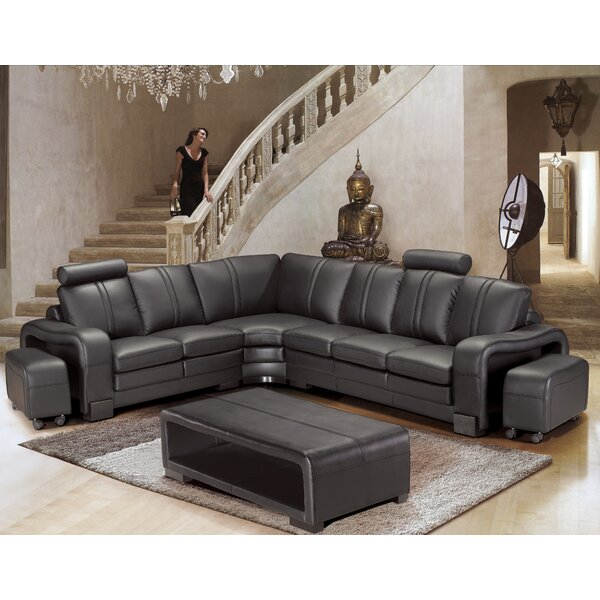Wamblee Sectional with Ottoman by Brayden Studio