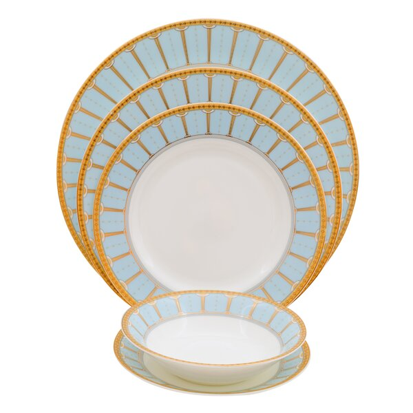 Discovery Bone China 20 Piece Dinnerware Set, Service for 4 by Shinepukur Ceramics USA, Inc.