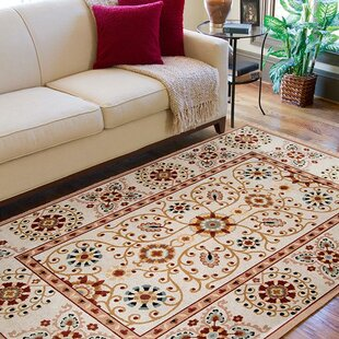 Tyrone Hand-Knotted Wool Ivory Area Rug by Darby Home Co