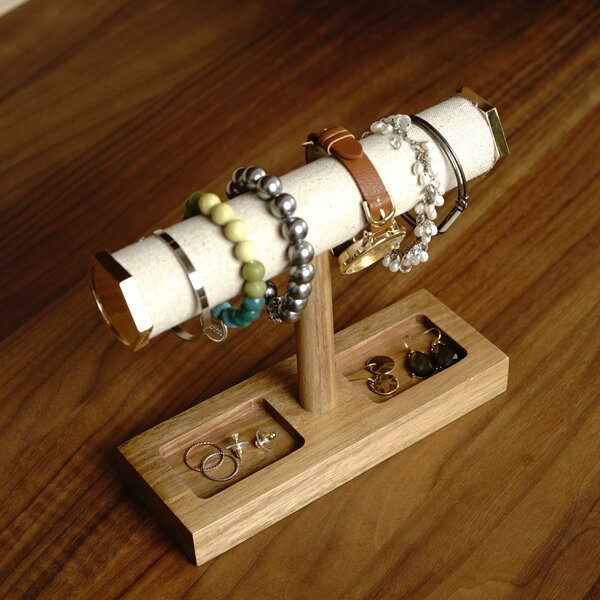 Wooden Bracelet Bar Jewelry Stand by Foundry Select