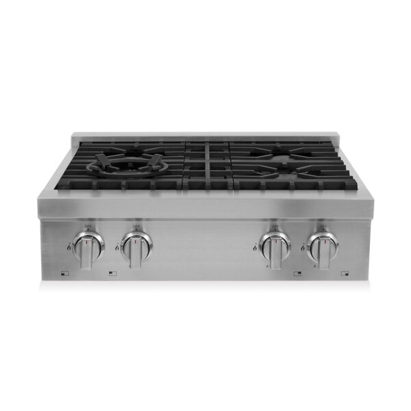 30 Gas Cooktop with 4 Burners by Cosmo