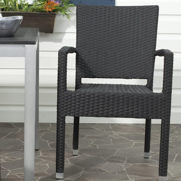 Key Vista Stacking Patio Dining Chair (Set Of 2) By Bay Isle Home