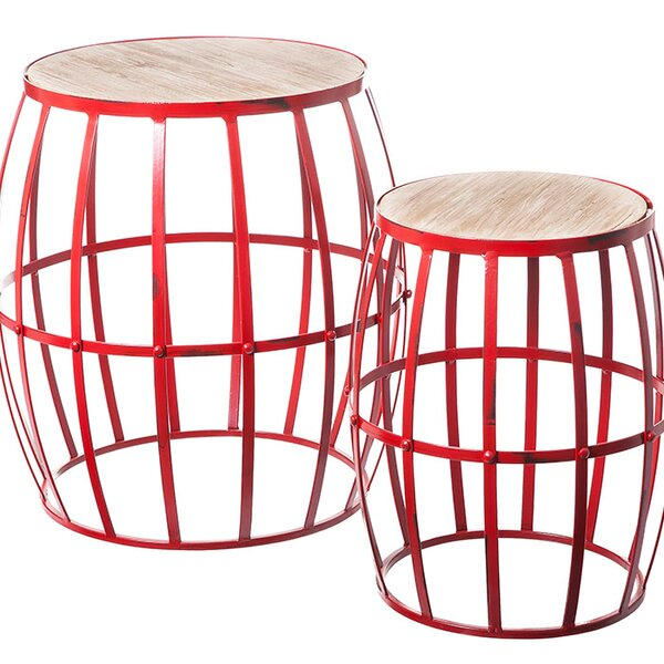2 Piece Elliott Nesting Accent Stool Set by Evergreen Enterprises, Inc