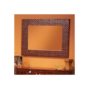 Brown Wall Mirror leather & faux leather wall mirrors you'll love | wayfair