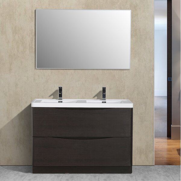 Narendra 48 Double Bathroom Vanity Set by Orren Ellis