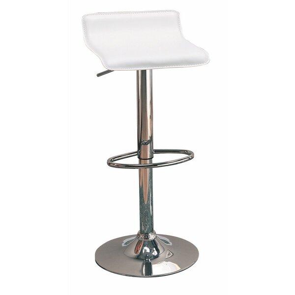 Wooster Backless Seat Adjustable Height Swivel Bar Stool (Set of 2) by Orren Ellis