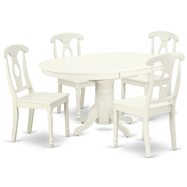 Kovacs 5 Piece Extendable Solid Wood Dining Set by August Grove