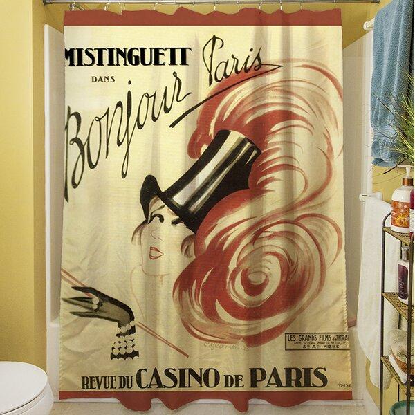 Bonjour Paris Shower Curtain by Manual Woodworkers & Weavers