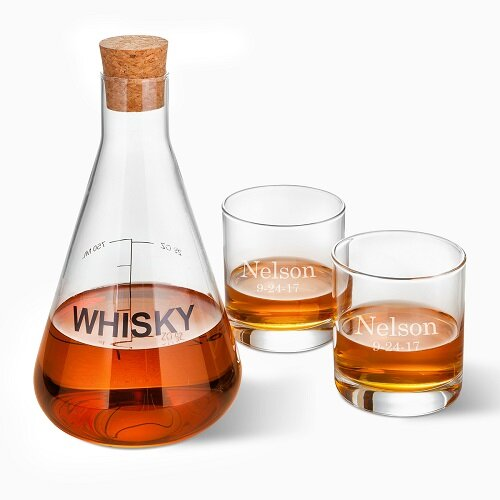 Welborn Personalized Whiskey 3 Piece Beverage Serving Set by Latitude Run