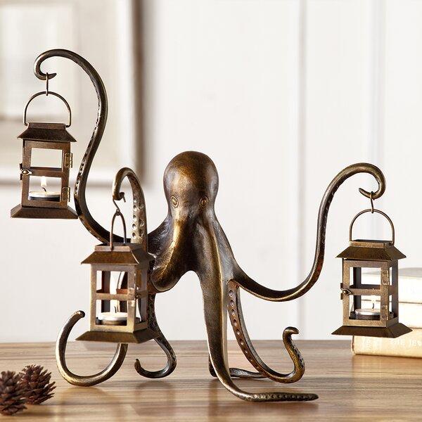 Octopus Aluminum Lantern Candelabra by Longshore Tides