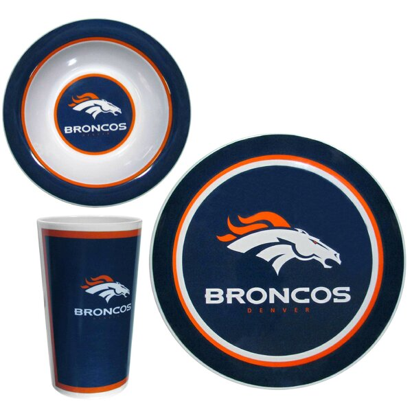 NFL Melamine 12 Piece Dinnerware Set, Service for 4 by Siskiyou Gifts