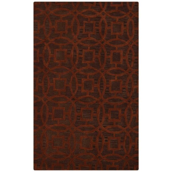 Bradford Hand-Tufted Wool Brown Area Rug by World Menagerie