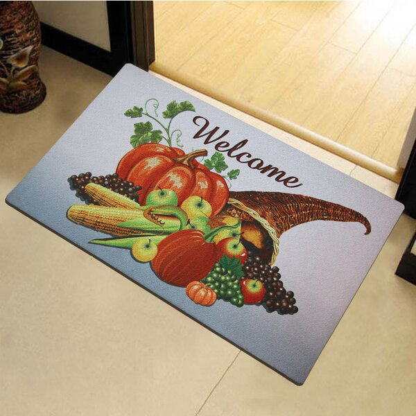 Fairview Welcome Fall Harvest Time Vinyl Back Painting Doormat by August Grove
