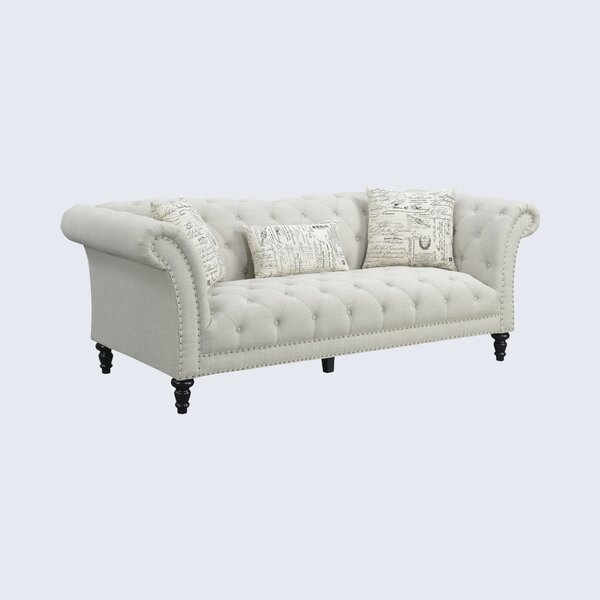 Versailles Chesterfield 90.1'' Rolled Arm Sofa By Kelly Clarkson Home
