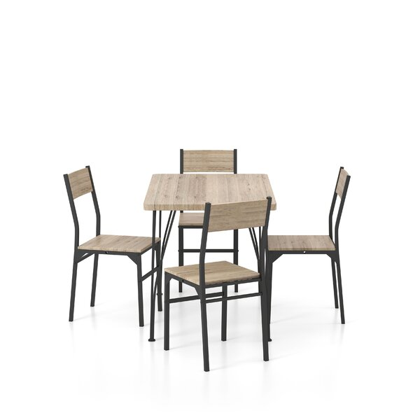 Broadbent 5 Piece Dining Set By 17 Stories