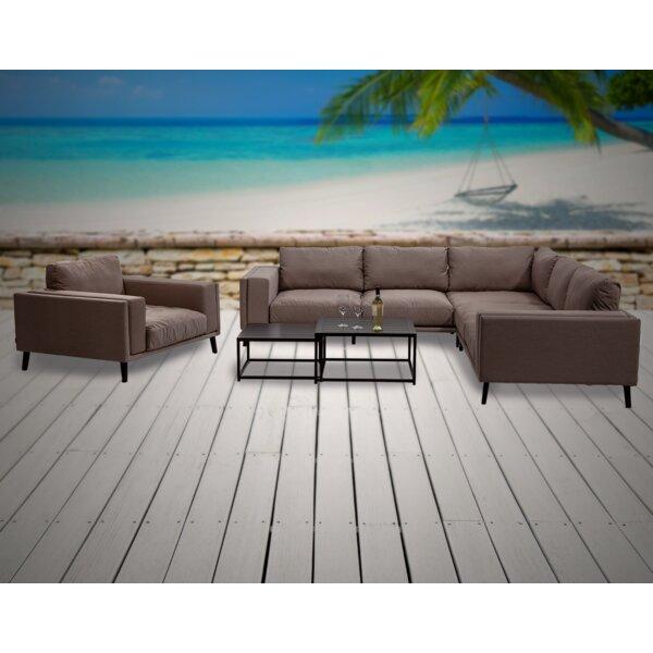 Birchfield 5 Piece Sunbrella Sectional Seating Group with Sunbrella Cushions by Corrigan Studio