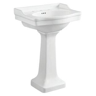 Find for Victorian Ceramic 35 Pedestal Bathroom Sink with Overflow ByKingston Brass