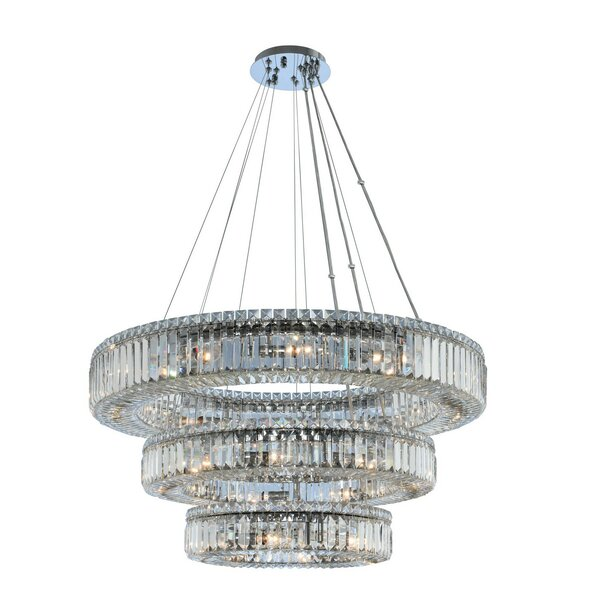 Richwood 27-Light Unique / Statement Tiered Chandelier By Everly Quinn