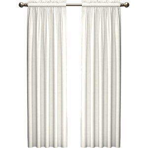 Kenda Solid Room Darkening Rod Pocket Curtain Panels (Set of 2)