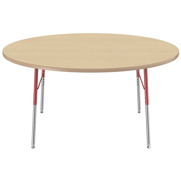 Maple Top Thermo-Fused Adjustable 60 Circular Activity Table by ECR4kids
