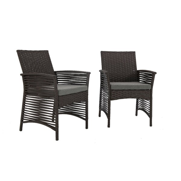 Harrelson Backyard 5 Piece Dining Set with Cushions by Charlton Home