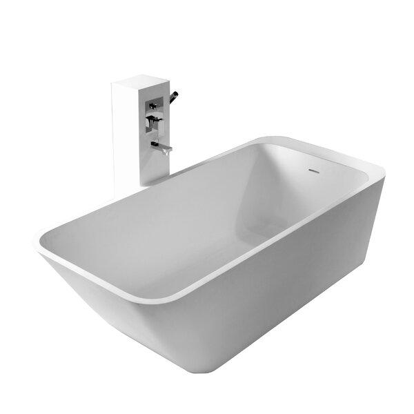 True Solid Surface Balance 67 x 29.5 Soaking Bathtub by dCOR design