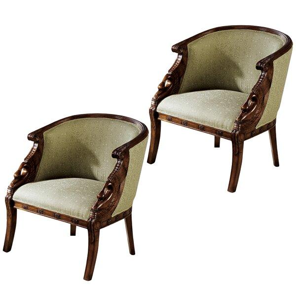 Due Cigno Armchair (Set of 2) by Design Toscano