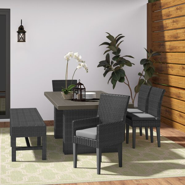 Fernando 6 Piece Dining Set with Cushions by Sol 72 Outdoor