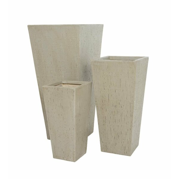 Tall Rectangular 3-Piece Pot Planter Set by Plow & Hearth