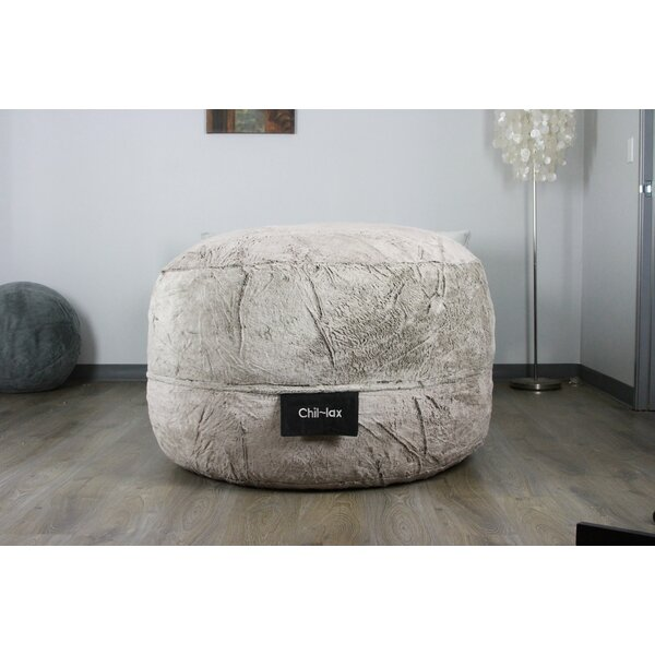 Large Faux Fur Classic Bean Bag By Elite Products