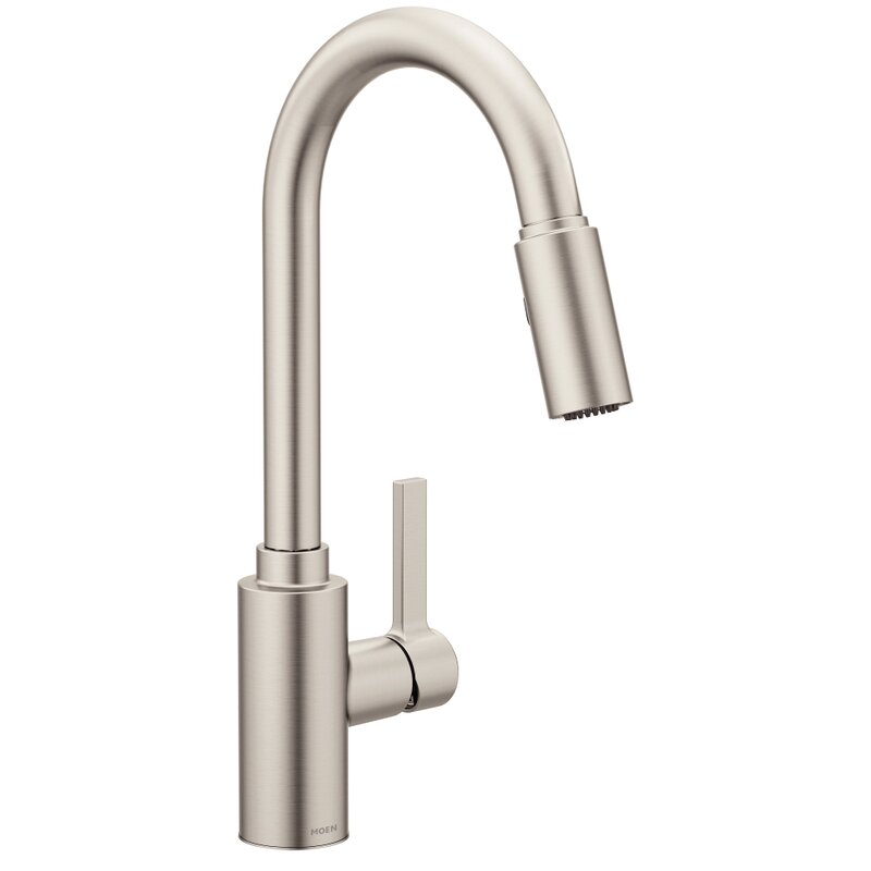 genta single handle pulldown kitchen faucet with power clean reflex duralock - Pull Down Kitchen Faucet