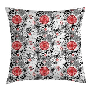 Grunge Indian Mandala Rounds Square Pillow Cover