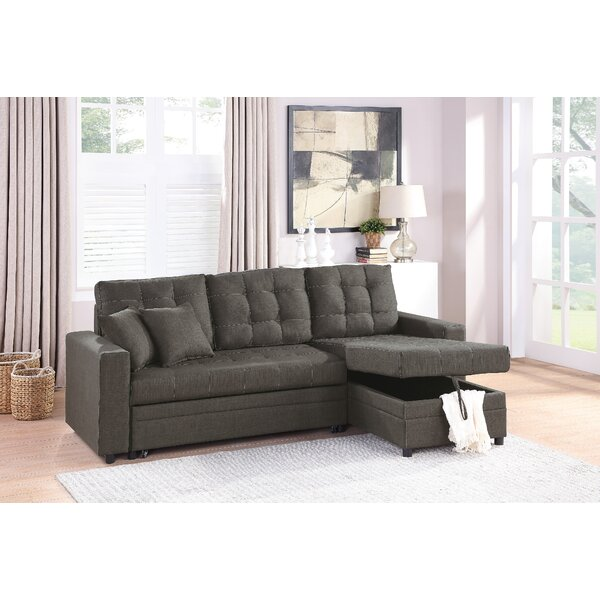 Caffin Reversible Sleeper Sectional By Ebern Designs