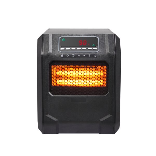 Remote Control Portable LED Fan Space 1,500 Watt Electric Infrared Cabinet Heater By Ktaxon